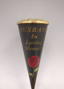 CONE VASE HUSBAND   DF16768G